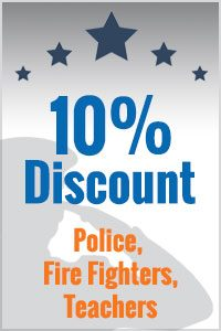 10% Discount Police, Fire Fighters, Teachers